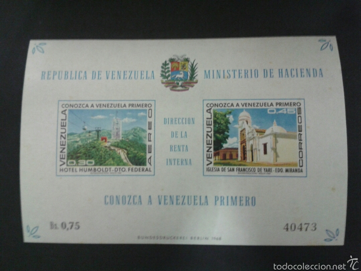 SELLOS DE VENEZUELA. YVERT HB 14. SERIE COMPLETA NUEVA SIN CHARNELA. (Sellos - Extranjero - América - Venezuela)