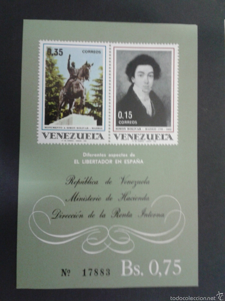 SELLOS DE VENEZUELA. YVERT HB 15. SERIE COMPLETA NUEVA SIN CHARNELA. (Sellos - Extranjero - América - Venezuela)