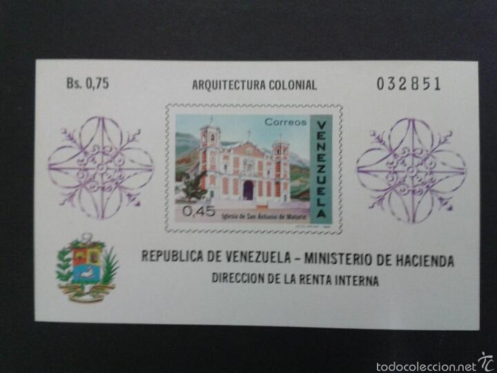 SELLOS DE VENEZUELA. YVERT HB 17. SERIE COMPLETA NUEVA SIN CHARNELA. (Sellos - Extranjero - América - Venezuela)