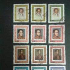 Selos: SELLOS DE VENEZUELA. BOLIVAR. YVERT A 895/906. SERIE COMPLETA USADA.. Lote 53310062