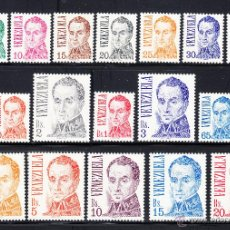 Sellos: VENEZUELA 968/84** - AÑO 1976 - SIMON BOLIVAR. Lote 53613016