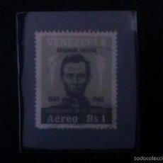 Sellos: VENEZUELA --- CENTENARIO DE LA MUERTE DE ABRAHAM LINCOLM ---- 1965 --- USADO.. Lote 58553035