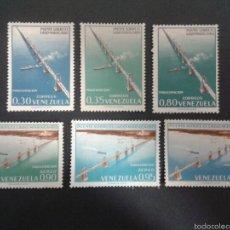 Sellos: SELLOS DE VENEZUELA. PUENTES. YVERT 679/81 + A-740/2 SERIE COMPLETA NUEVA CON CHARNELA.. Lote 58617731