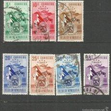 Sellos: VENEZUELA YVERT NUM. 385/391 SERIE COMPLETA USADA. Lote 61357301