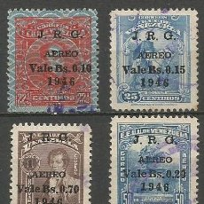 Sellos: VENEZUELA CORREO AEREO NUM. 218/221 FALTA EL 222 PARA LA SERIE COMPLETA USADA. Lote 61407327
