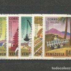 Sellos: VENEZUELA YVERT NUM. 689/693 * SERIE COMPLETA CON FIJASELLOS. Lote 61464571