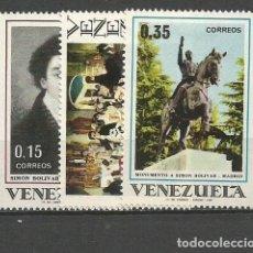 Sellos: VENEZUELA YVERT NUM. 793/795 * SERIE COMPLETA CON FIJASELLOS. Lote 61471295