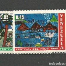 Sellos: VENEZUELA YVERT NUM. 797/798 * SERIE COMPLETA CON FIJASELLOS. Lote 61471375