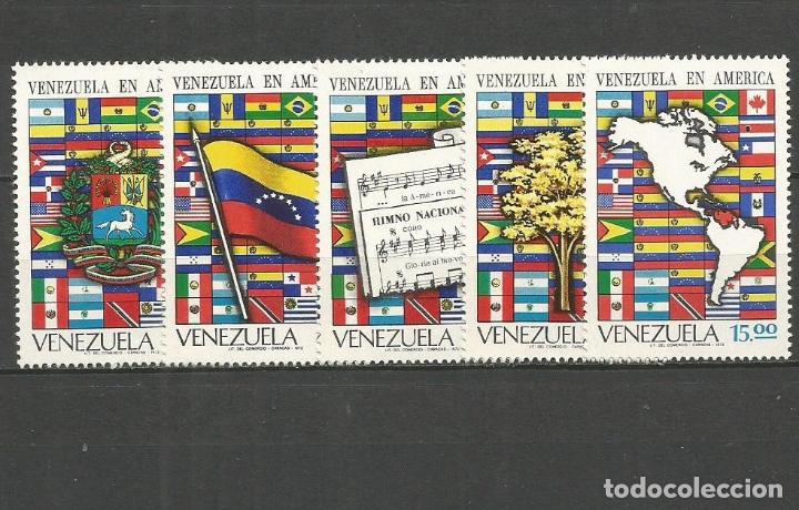 VENEZUELA YVERT NUM. 841/845 * SERIE COMPLETA CON FIJASELLOS (Sellos - Extranjero - América - Venezuela)