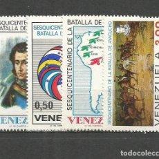 Sellos: VENEZUELA YVERT NUM. 936/939 * SERIE COMPLETA CON FIJASELLOS. Lote 61546476