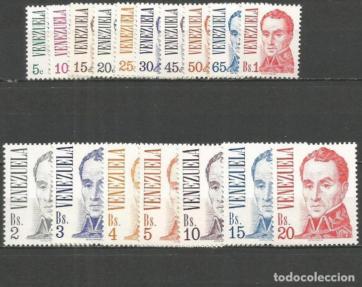 VENEZUELA YVERT NUM. 968/984 * SERIE COMPLETA CON FIJASELLOS (Sellos - Extranjero - América - Venezuela)