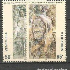 Sellos: VENEZUELA YVERT NUM. 1075/1076 * SERIE COMPLETA CON FIJASELLOS. Lote 61561492