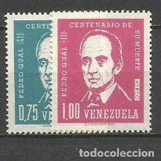 Sellos: VENEZUELA CORREO AEREO YVERT NUM. 805/806 * SERIE COMPLETA CON FIJASELLOS. Lote 61603160