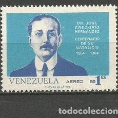 Sellos: VENEZUELA CORREO AEREO YVERT NUM. 890 * SERIE COMPLETA CON FIJASELLOS. Lote 61607568