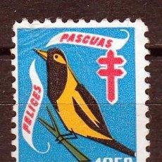 Sellos: VENEZUELA. 1958.VIÑETA FELICES PASCUAS,PRO TUBERCULOSIS. *,MH. Lote 61759412