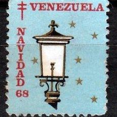Sellos: VENEZUELA. 1968.VIÑETA FELICES PASCUAS,PRO TUBERCULOSIS. *,MH. Lote 61759536