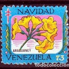 Sellos: VENEZUELA. 1973.VIÑETA FELICES PASCUAS,PRO TUBERCULOSIS. *,MH. Lote 61759636