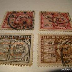 Sellos: LOTE DE SELLOS HABILITADOS - EE.UU DE VENEZUELA. Lote 68145245