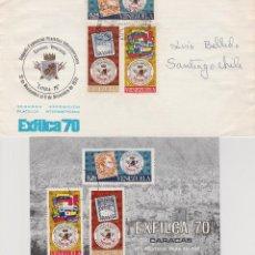 Sellos: SOBRE Y POSTAL EXFILCA'70 . Lote 73572007