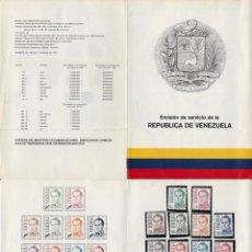 Sellos: HOJA DE LA EMISIÓN DE 1976 CON 10 SELLOS NUEVOS SERIE COMPLETA, Y 1 SELLO USADO.. Lote 73586063