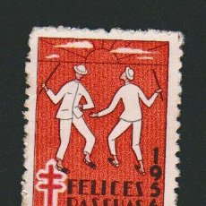 Sellos: VENEZUELA.VIÑETA.CAMPAÑA ANTITUBERCULOSIS.FELICES PASCUAS.1956.NUEVO SIN GOMA.. Lote 76882699