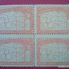 Sellos: VENEZUELA YVERT Nº 57 ** X4 GOMA ORIGINAL SIN CHARNELA, 1896 , GENERAL MIRANDA. Lote 83297448