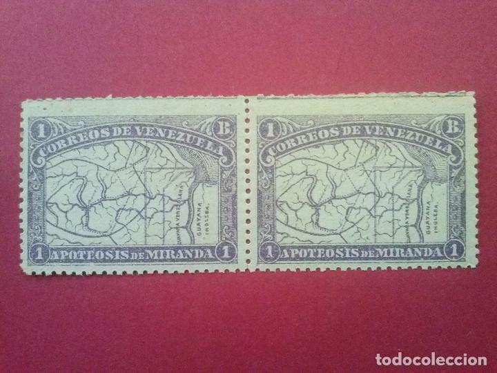 VENEZUELA YVERT Nº 58 X2 ** GOMA ORIGINAL SIN CHARNELA, 1896 , GENERAL MIRANDA (Sellos - Extranjero - América - Venezuela)