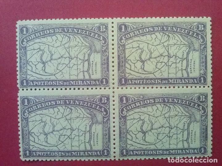 VENEZUELA YVERT Nº 58 X4 ** GOMA ORIGINAL SIN CHARNELA, 1896 , GENERAL MIRANDA (Sellos - Extranjero - América - Venezuela)