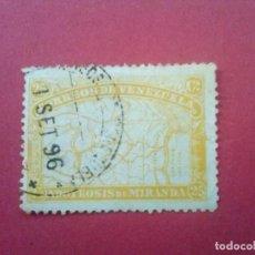 Sellos: VENEZUELA YVERT Nº 56, 1896 , GENERAL MIRANDA. Lote 83301804