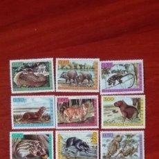 Sellos: VENEZUELA YVERT 668/73* Y 778/83* AÑO 1963 FAUNA NUEVA CON CHARNELA. Lote 88182356