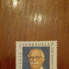 Sellos: VENEZUELA YVERT 941** AÑO 1968 TERCER ANIVERSARIO DE LA MUERTE DEL DOCTOR JOSÉ MANUEL NÚÑEZ PONTE. Lote 88188368