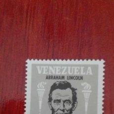 Sellos: VENEZUELA YVERT 888 LINCOLN 1966. Lote 88294120