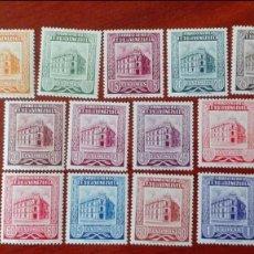 Sellos: VENEZUELA YVERT 435/ 446* NUEVOS CON CHARNELA CENTRADO DE LUJO SIN EL VALOR DE 70 CÉNTIMOS AÑO 1953 . Lote 88296396