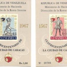 Sellos: VENEZUELA: 1967; YVERT 12-13, HOJA BLOQUE CUATRICENTENARIO CARACAS TCHB12-13. Lote 89094152