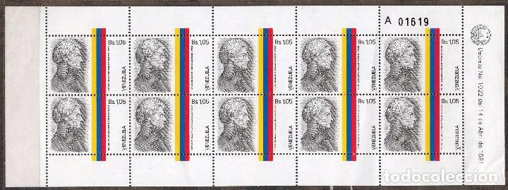 VENEZUELA / 1986 / MNH / SC#1356 /FRANCISCO DE MIRANDA / LIBERTADOR DE AMERICA (Sellos - Extranjero - América - Venezuela)