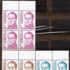 Sellos: VENEZUELA / 1983 / MNH / SC#1305-1307/ SIMON BOLIVAR. Lote 90807575