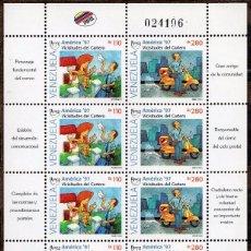 Sellos: VENEZUELA / 1997 / MNH / SC#1573-1574 / UPAEP / CARTERO. Lote 90808065