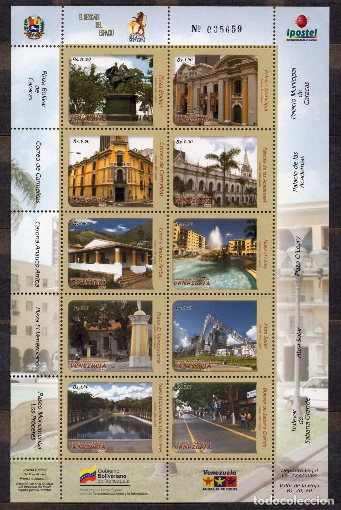 VENEZUELA / 2010 / MNH / SC#1687-1688 / CARACAS / ARQUITECTURA / (2 FOTOS) (Sellos - Extranjero - América - Venezuela)