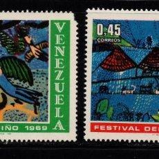 Sellos: VENEZUELA 797/98* - AÑO 1969 - FESTIVAL DEL NIÑO . Lote 97345919