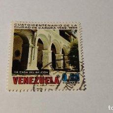 Sellos: USADO VENEZUELA . 400 ANIVERSARIO CIUDAD DE CARORA. 8 SEPTIEMBRE 1969. YT: 789. Lote 100384763