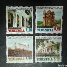 Sellos: VENEZUELA. YVERT 789/92. SERIE COMPLETA NUEVA SIN CHARNELA. CIUDAD DE CARORA.. Lote 100478971