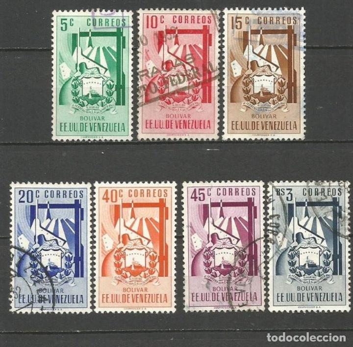 VENEZUELA YVERT NUM. 378/384 SERIE COMPLETA USADA (Sellos - Extranjero - América - Venezuela)