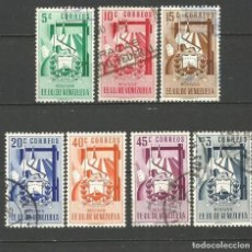 Sellos: VENEZUELA YVERT NUM. 378/384 SERIE COMPLETA USADA. Lote 103198635