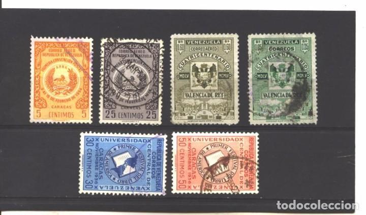 VENEZUELA 1955-56 - 6 SELLOS DIFERENTES - USADOS (Sellos - Extranjero - América - Venezuela)