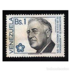 Sellos: VENEZUELA 1976. MICHEL 2052, YVERT 995. PRESIDENTE USA F.D. ROOSEVELT. USADO. Lote 112228995