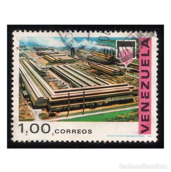 VENEZUELA 1969. MICHEL 1795, YVERT 787. INDUSTRIA. COMPLEJO INDUSTRIAL (CARORA).. USADO (Sellos - Extranjero - América - Venezuela)