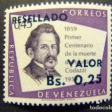 Sellos: VENEZUELA 1965 AGUSTIN CODAZZI YVERT N 711 ** MNH. Lote 116368223