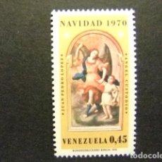 Sellos: VENEZUELA 1970 NAVIDAD NOËL ANGEL GUADIAN POR JUAN PEDRO LOPEZ YVERT N 816 ** MNH. Lote 116370395