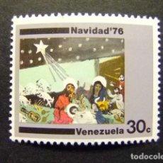 Sellos: VENEZUELA 1976 NOËL TABLEAU DE B. RIVAS YVERT 1004 ** MNH. Lote 116371499
