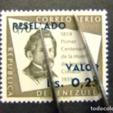 Sellos: VENEZUELA 1965 SELLOS SOBRECARGADOS 1947-64 YVERT PA 842 ** MNH. Lote 116384871